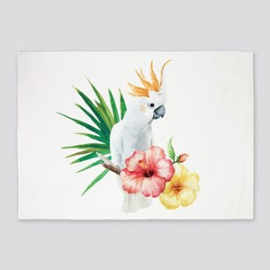 Tropical Cockatoo 5'x7'Area Rug