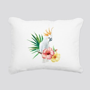 Tropical Cockatoo Rectangular Canvas Pillow