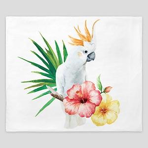 Tropical Cockatoo King Duvet