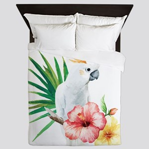Tropical Cockatoo Queen Duvet