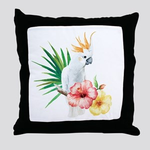 Tropical Cockatoo Throw Pillow