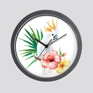 Tropical Cockatoo Wall Clock