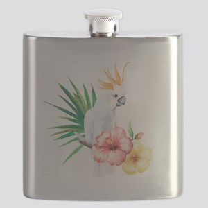 Tropical Cockatoo Flask