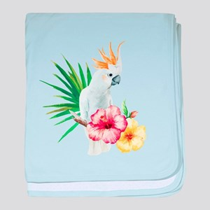Tropical Cockatoo baby blanket