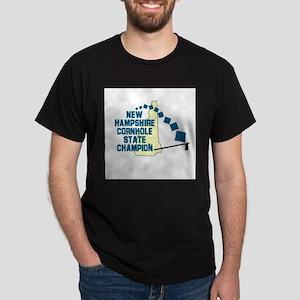 New Hampshire Cornhole State Dark T-Shirt