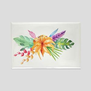 Watercolor Tropical Bouquet 4 Magnets