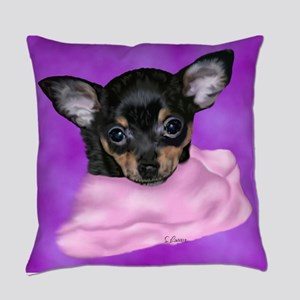 Chihuahua Puppy Portrait Print Everyday Pillow