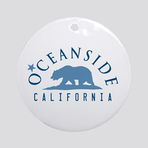 Oceanside - California. Round Ornament