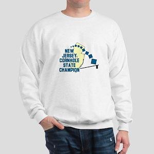 New Jersey Cornhole State Cha Sweatshirt