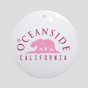 Oceanside - California. Round Ornament