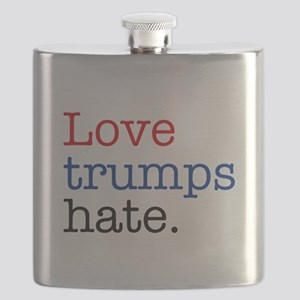 Love Trumps Hate Flask