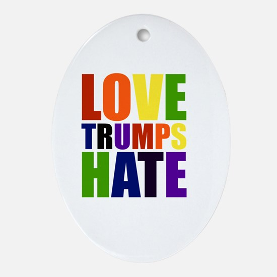 Cute Hate Oval Ornament