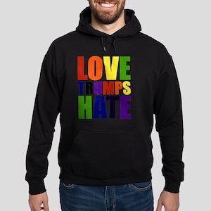 Love Trumps Hate Hoodie (dark)
