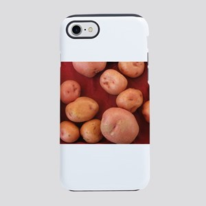 potatoes on red cloth iPhone 8/7 Tough Case