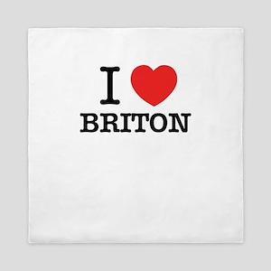 I Love BRITON Queen Duvet