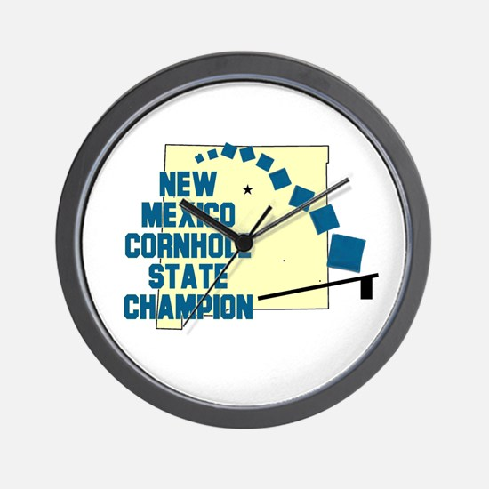 New Mexico Cornhole State Cha Wall Clock