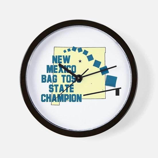 New Mexico Bag Toss Wall Clock