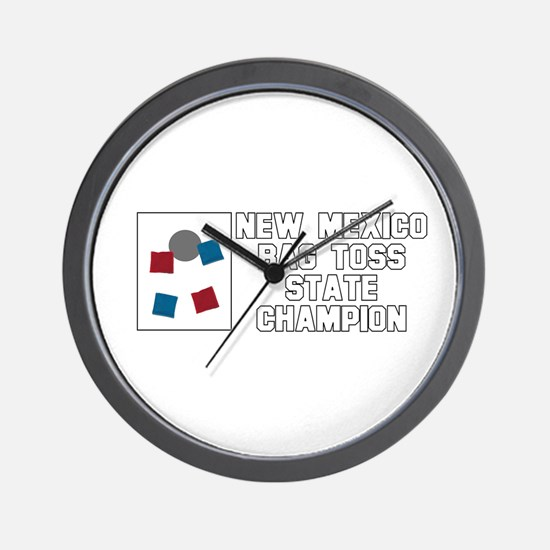 New Mexico Bag Toss State Cha Wall Clock