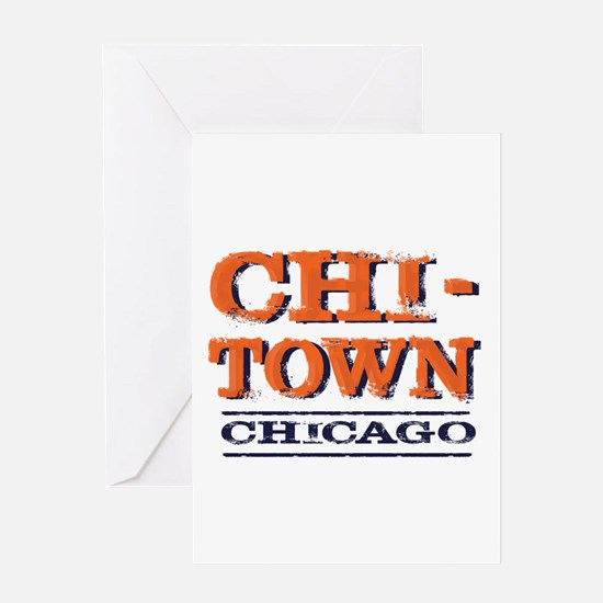 CHICAGO CHI TOWN Greeting Cards