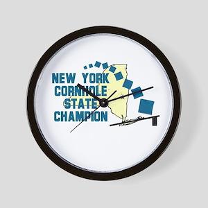 New York Cornhole State Champ Wall Clock