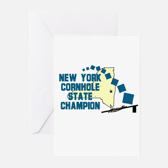 New York Cornhole State Champ Greeting Cards (Pk o