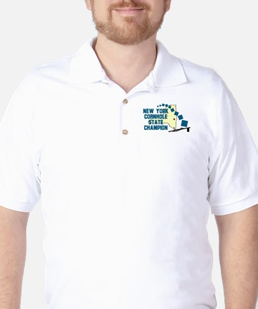New York Cornhole State Champ Golf Shirt