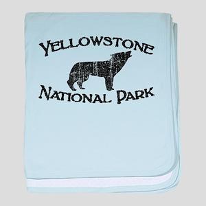 Yellowstone Wolf baby blanket