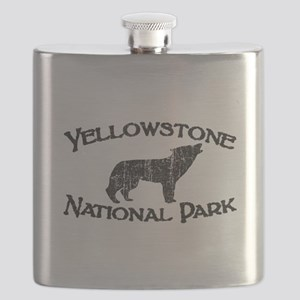Yellowstone Wolf Flask