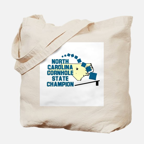 North Carolina Cornhole State Tote Bag