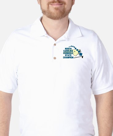 North Carolina Cornhole State Golf Shirt