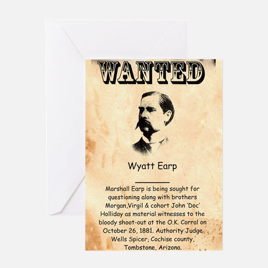 Wanted Wyatt Earp Greeting Card