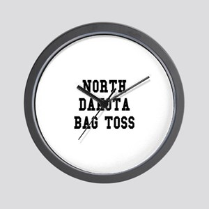 North Dakota Bag Toss Wall Clock