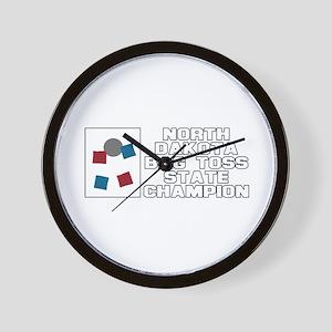 North Dakota Bag Toss State C Wall Clock