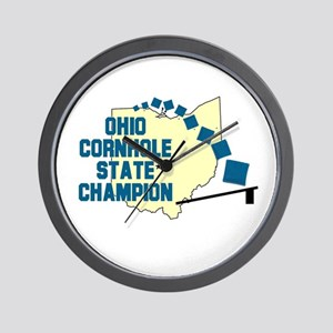 Ohio Cornhole State Champion Wall Clock