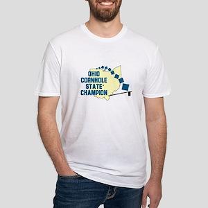 Ohio Cornhole State Champion Fitted T-Shirt