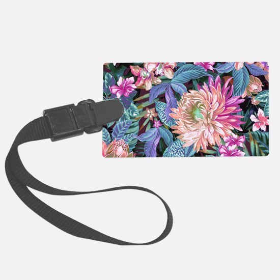 Exotic Floral Large Luggage Tag