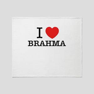 I Love BRAHMA Throw Blanket
