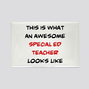awesome special ed teacher Rectangle Magnet