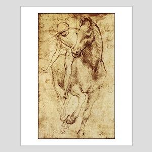 Leonardo da Vinci Horse Rider Small Poster