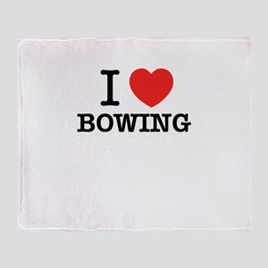 I Love BOWING Throw Blanket
