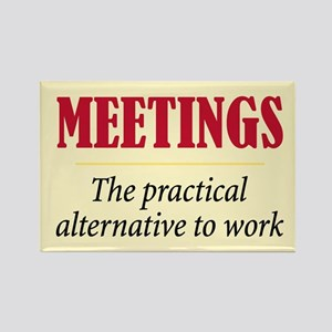 Meetings - Rectangle Magnet
