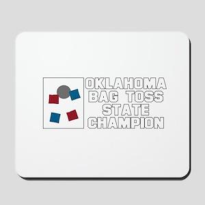 Oklahoma Bag Toss State Champ Mousepad