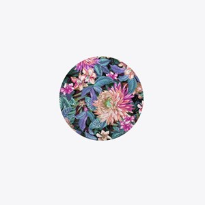 Exotic Floral Mini Button