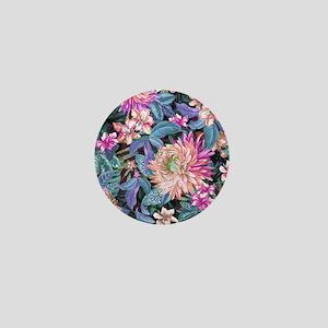 Exotic Floral Mini Button