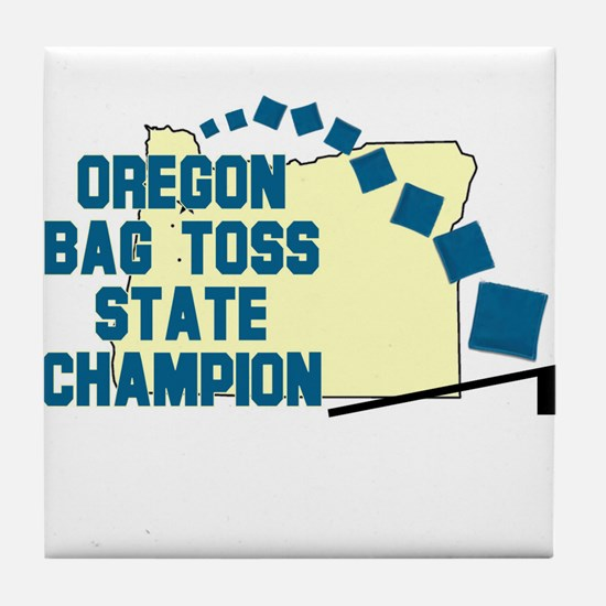 Oregon Bag Toss State Champio Tile Coaster