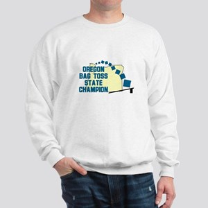 Oregon Bag Toss State Champio Sweatshirt
