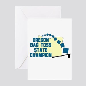 Oregon Bag Toss State Champio Greeting Cards (Pk o