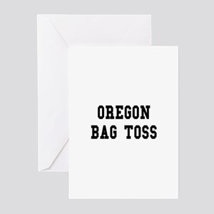 Oregon Bag Toss Greeting Cards (Pk of 10)