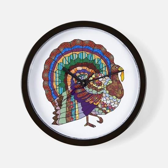 Thanksgiving Turkey Art Wall Clock