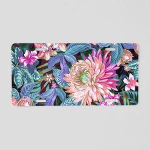 Exotic Floral Aluminum License Plate
